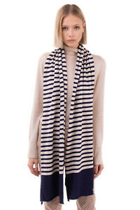 GEORGE J. LOVE Knitted Stole Scarf Cashmere Angora & Wool Blend Made in Italy