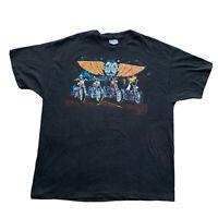 Vintage Easy Riders Motorcycle Rare 20 Years 1991 Biker Tee Shirt BeefyT Size XL
