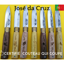 DA CRUZ Couteau 19cm Portugal Lame Rasoir Gravure Buis Noyer Chêne Peche Chasse