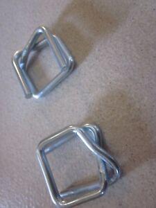 75 Stk. 16 mm Textilband Drahtklammern Verschlussklammern Drahtverschlussklemmen