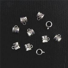 20pcs Vintage Tibetan Silver Connectors Bails fit charm bead For DIY bracelet