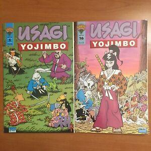 Usagi Yojimbo Vol. 2 #5 #16 (1993-1995, Mirage) Never read Stan Sakai Comic