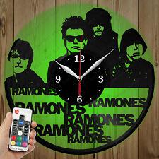 LED Vinyl Clock Ramones LED Wall Art Decor Clock Original Gift 5767