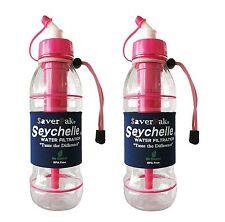 $averPak 2 Pack -Includes 2 Seychelle 20oz Sports Bottle PINK w/ STANDARD Filter