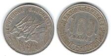 1 piece de 100 francs du Gabon 1971 ( 002 )