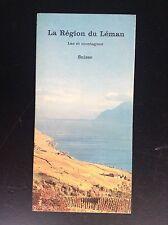 Rare ancien dépliant Brochure La région du Lac Léman Suisse