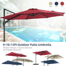 9/10/13Ft Cantilever Patio Hanging Umbrella Offset Outdoor Sun Shade Fast Post