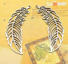 Free shipping 3/20 PCS silver lovely fine leaves the charm of connectors