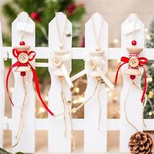 Little Cute Art Craft Pendant Christmas Tree Button Bow Ornaments Decors J