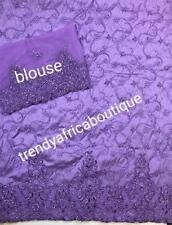 Special sale: lilac indian Silk Embriodery George wrapper + 1.8yds matching net