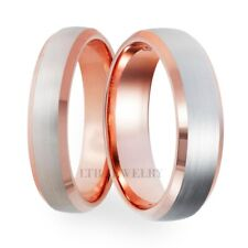 TWO TONE GOLD HIS & HERS WEDDING BANDS, MATCHING WEDDING RINGS SET