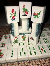 Unique Tri Layer Tri Color Opaque Mahjong Set 152 Tiles NMJL Or Singapore Rules