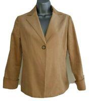 NOLLEY'S Women's Beige Textured Single-Buttoned Jacket Blazer. Size UK 8.