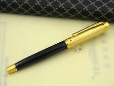 WINGS lattice pattern GOLDEN office metal black Iridium Finance Fountain Pen