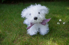 Easy Puppy Knitting Pattern King Cole Tinsel Chunky Yarn Toy Children Gift