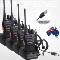 4Pcs Baofeng Walkie Talkie 2 Way Radio BF-888S UHF400-470MHZ Long Range 16CH AS