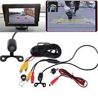 2 In 1 Car HD Rear View Reverse Backup Camera Parking Rear View 120° Wide Angle