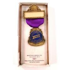 Vintage Brass Badge National Association of Waste Material Dealers Bastian Bros