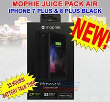 NEW MOPHIE JUICE PACK AIR BATTERY CASE iPHONE 7 PLUS & 8 PLUS BLACK - 33 HOURS