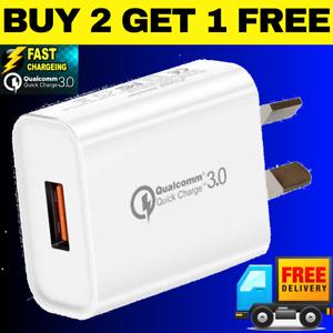 ⚡️18W SINGLE PORT Qualcomm Quick Charge QC 3.0 Super Fast Wall Charger AU Plug