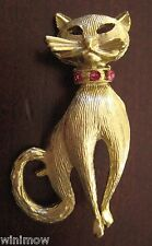 Vintage Gold Tone Cat Pin Kitten Kitty Pet Jewelry