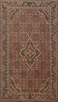 Antique Geometric Traditional RED Area Rug Hand-knotted Wool Oriental 4x7 Carpet