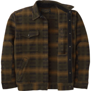 New with Tags Filson Beartooth Camp Jacket Black/Olive/Brown Plaid Size S and M