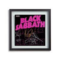 """Black Sabbath w/Ozzy Osbourne Signed By 4 """"Master of Reality"""" Album LP Print"""