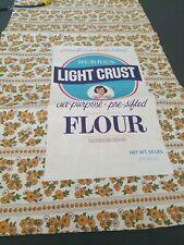 Vintage Burrus Feed Flour Sack Fabric For Sewing Burrus Light Crust Flour Bag
