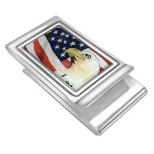Quality Custom Made Double Sided Money clip with American flag and Eagle