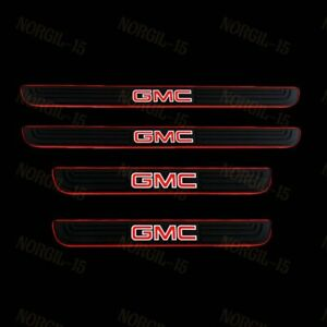 NEW For GMC 4PCS Black Rubber Car Door Scuff Sill Cover Panel Step Protector