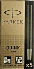 Parker Quink Tintenpatronen Füllerpatrone 3 x 5-er-Set Großraum-Patronen Schwarz