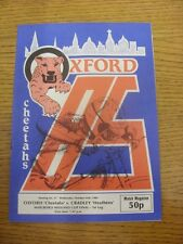 23/10/1985 SPEEDWAY programma: Marlboro MIDLAND Cup Final-Oxford V cradley (Cr