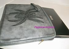 Deena & Ozzy Embroidered Spider Laptop Attache Case Grey Spider v cool  Preowned