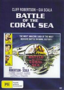 Battle Of the Coral Sea DVD Cliff Robertson New and Sealed Australia