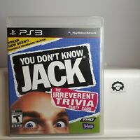 You Don't Know Jack Trivia Game  ( Sony Playstation 3 PS3 ) Tested