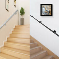 Handrail for Stairs Rail 3-10 ft Stainless Steel Industrial Black Iron Loft Pipe