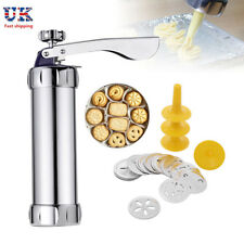 Biscuit Maker Cake Cutter Cookie Press Pump Machine Decorating Complete Set