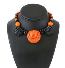 Halloween Pumpkin  Necklace Goth Punk Alternative Style  Kreepsville 666