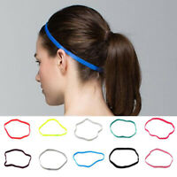 Multi Color Anti Slip Headband Elastic Yoga Sport Gym Sweatband Thin Hairband