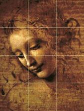 Art Head of a Young Woman da Vinci Ceramic Mural Backsplash Bath Tile #2296