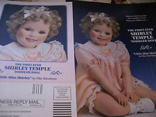 Danbury Mint Little Miss Shirley Temple TODDLER Doll Ad / BY Elke Hutchens