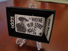 JOHN WAYNE COWBOY BLUE STEEL ZIPPO LIGHTER MINT IN BOX