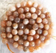 """natural 6mm Sunstone Round faceted Gemstone Beads 15"""""""