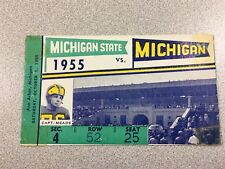 Michigan vs. Michigan State 1955 Football Ticket Stub- Big House-RARE