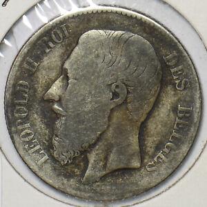 Belgium 1867 2 Francs Lion animal 195443 combine shipping
