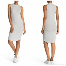 CUPCAKES & CASHMERE Haile Rib Knit Dress Sporty Heather Gray Med NWT
