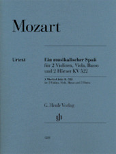 Henle Urtext Mozart A Musical Joke K. 522 for 2 Violins, Viola, Bass and 2 Horns
