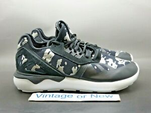 Women's Adidas Tubular Runner Black Silver White Running Shoes AF6276 sz 7