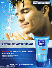 PUBLICITE ADVERTISING 065  2001  NIVEA MEN   soin visage gel